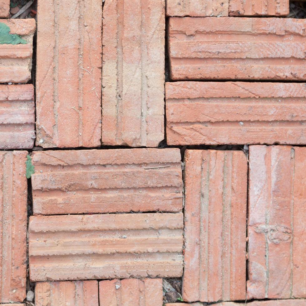 azulejos de ladrillo marrón foto