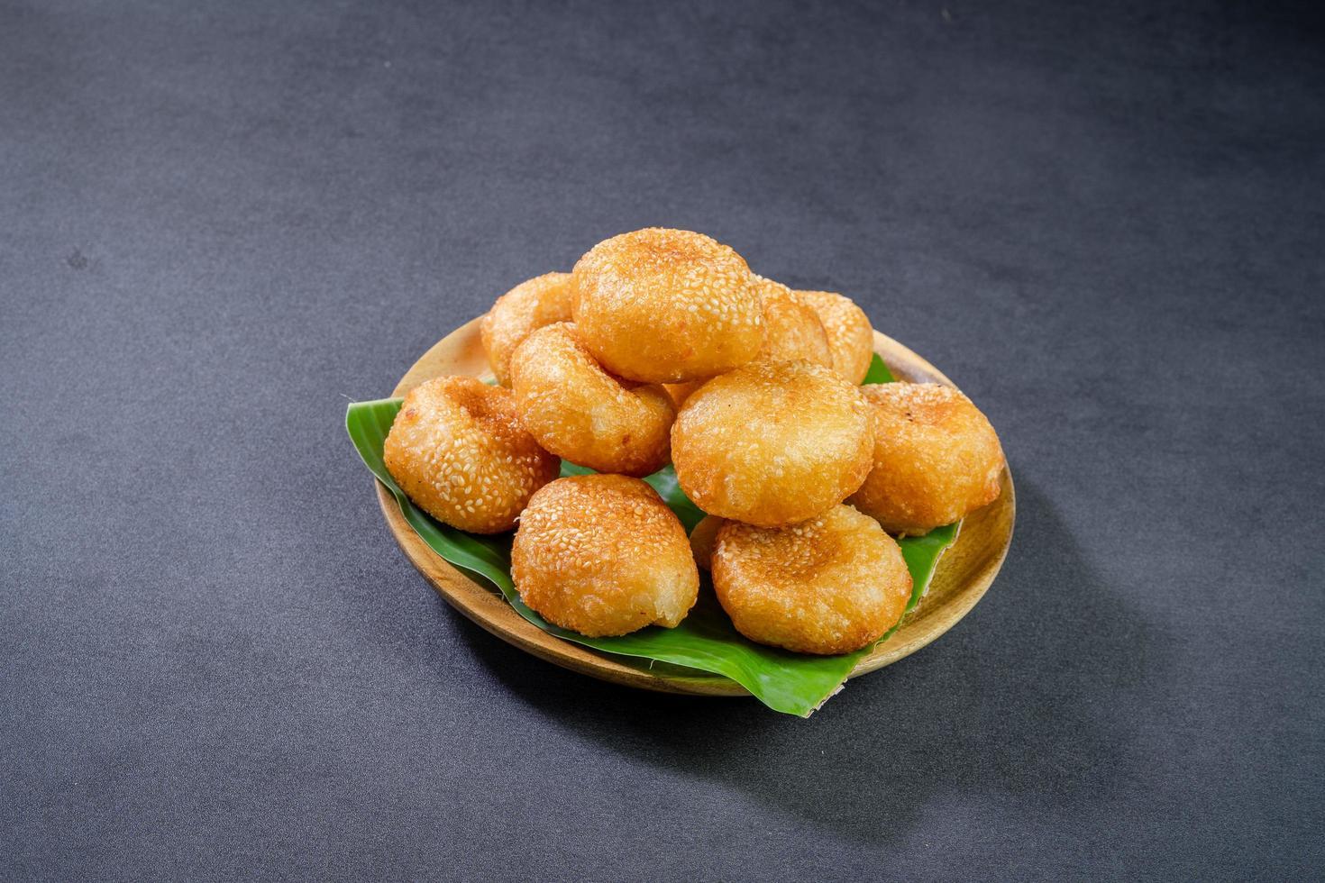 Vietnam doughnuts on plate photo