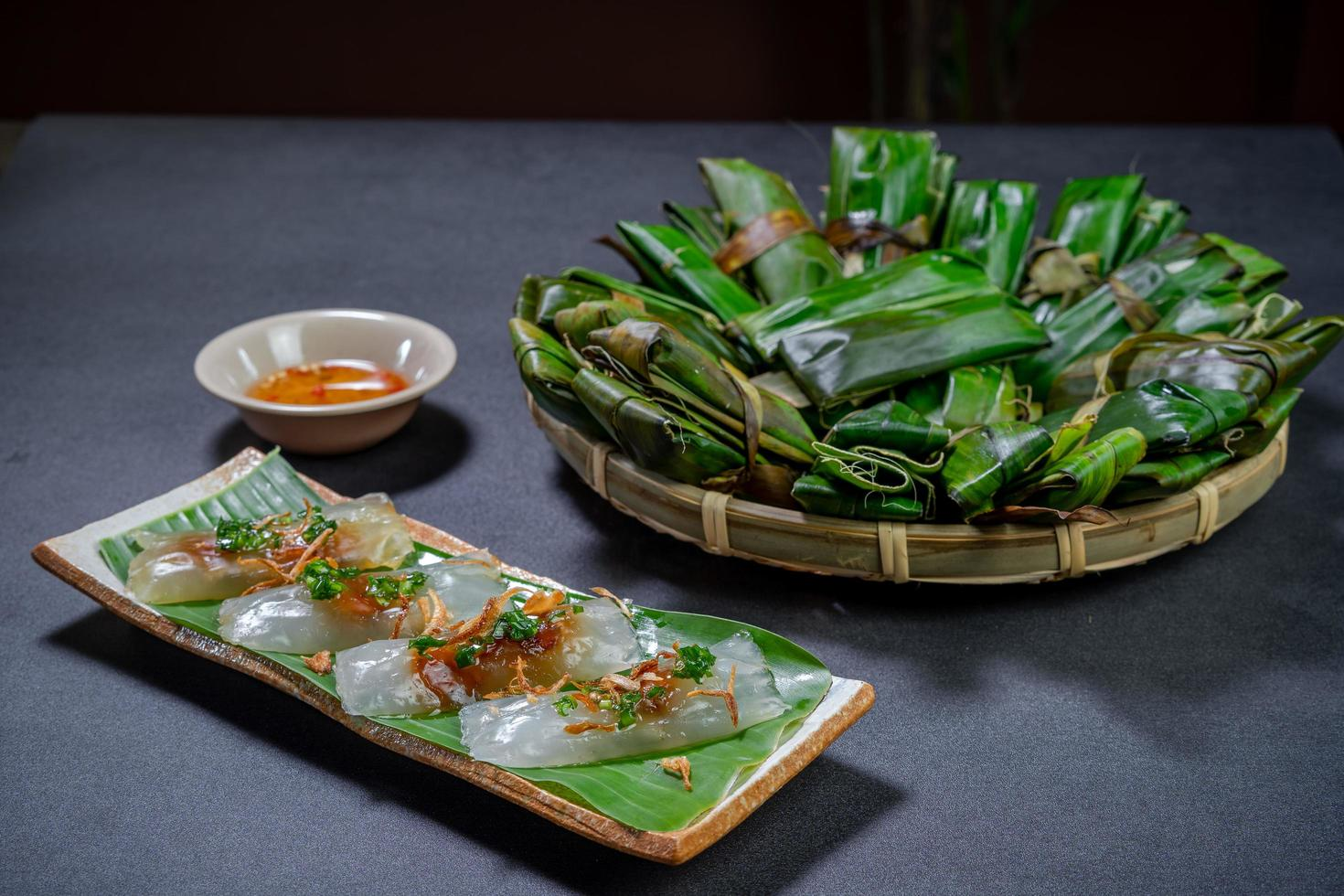 Rice dumpling cake photo