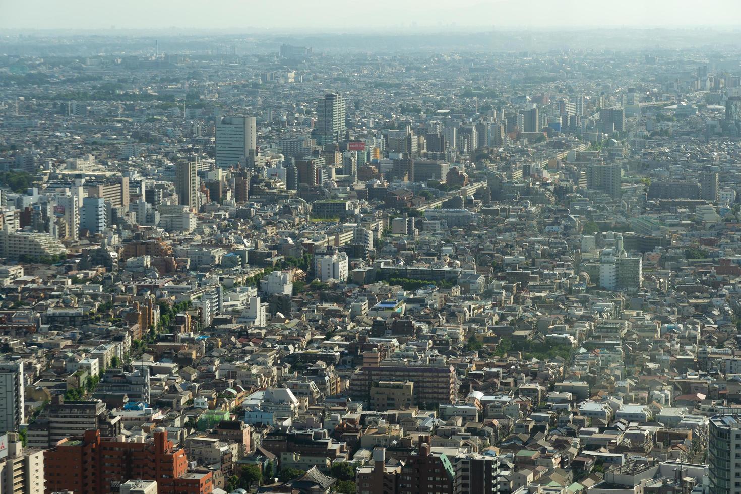 ciudad de tokio, vista aérea foto