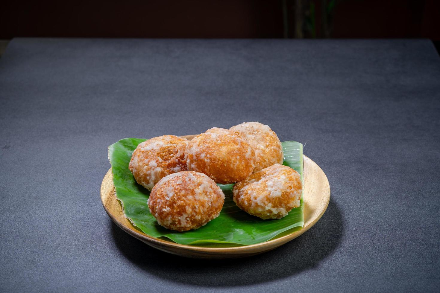 Thai doughnuts on table photo