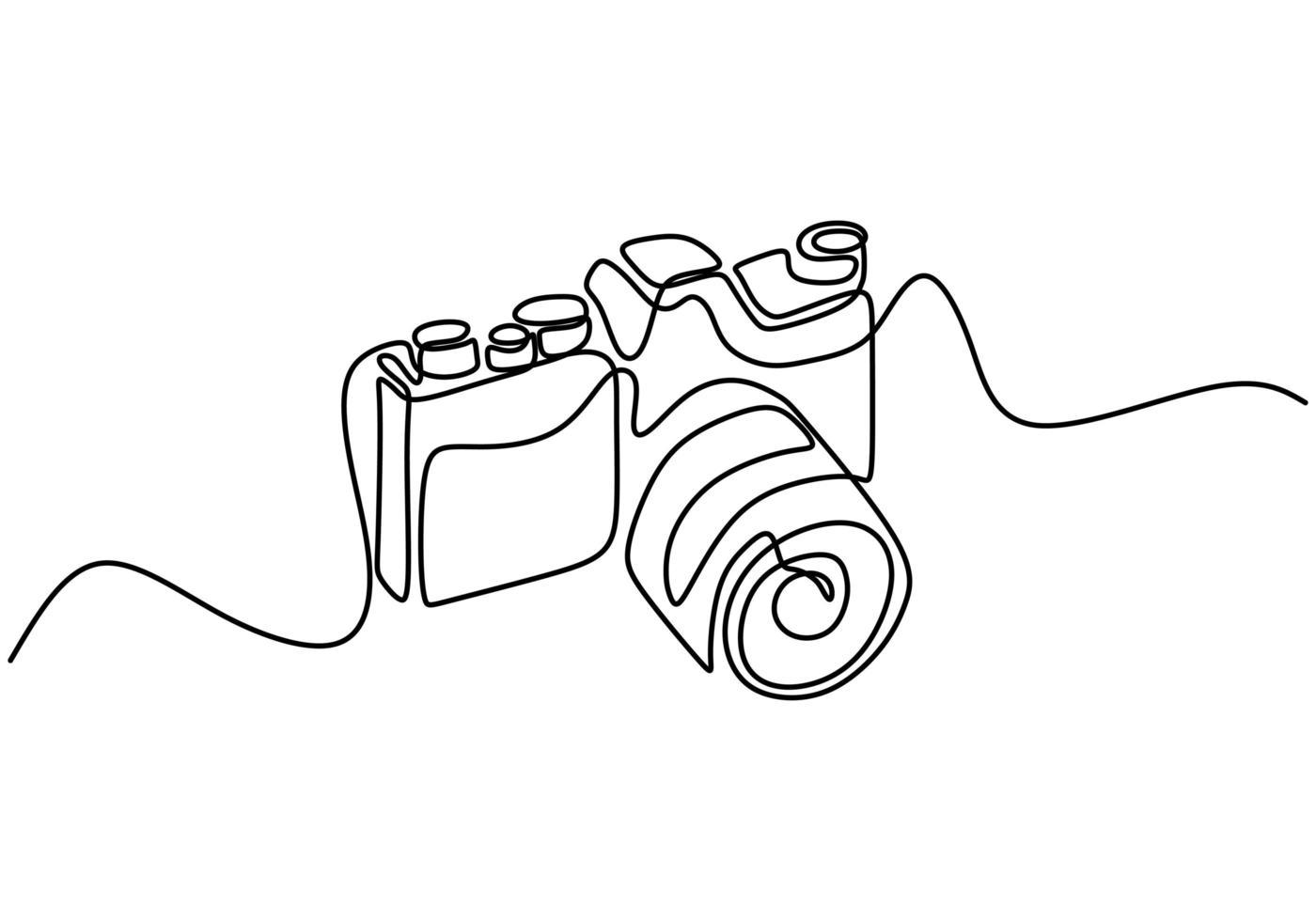 Vector Digital De La Cámara Réflex Digital Un Dibujo Continuo De Una Sola Línea Dibujo Continuo De Una Línea De Cámara De Fotos Profesional Descargar Vectores Gratis Illustrator Graficos Plantillas Diseño