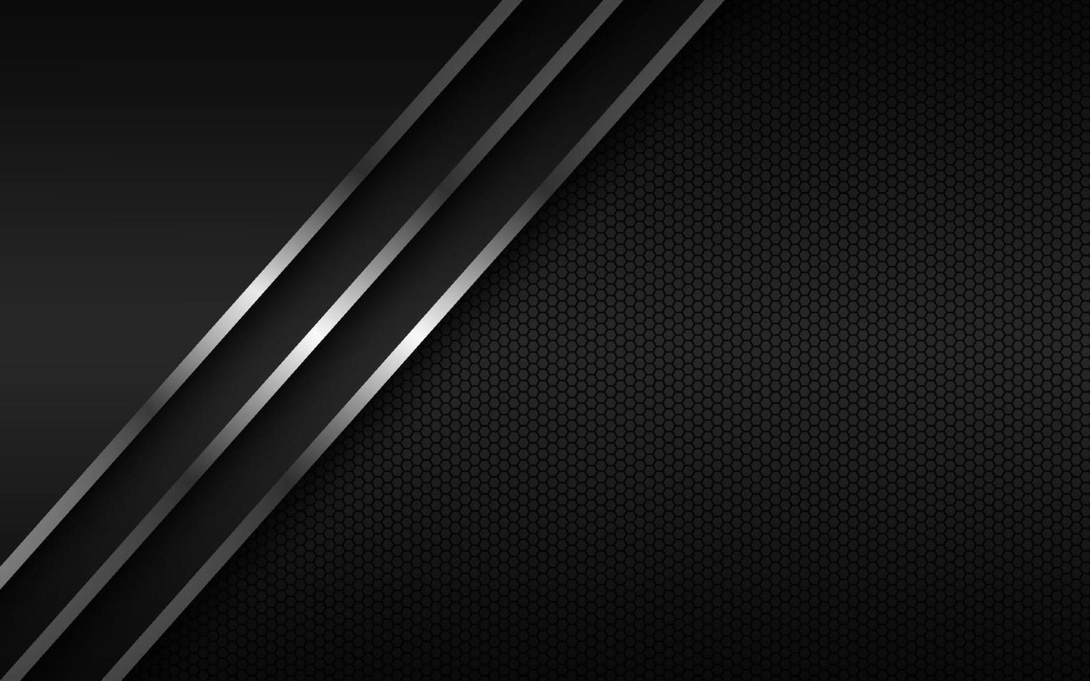 fondo abstracto con líneas plateadas en capas superpuestas y patrón poligonal. plantilla para su banner y presentación. ilustración de diseño vectorial moderno vector