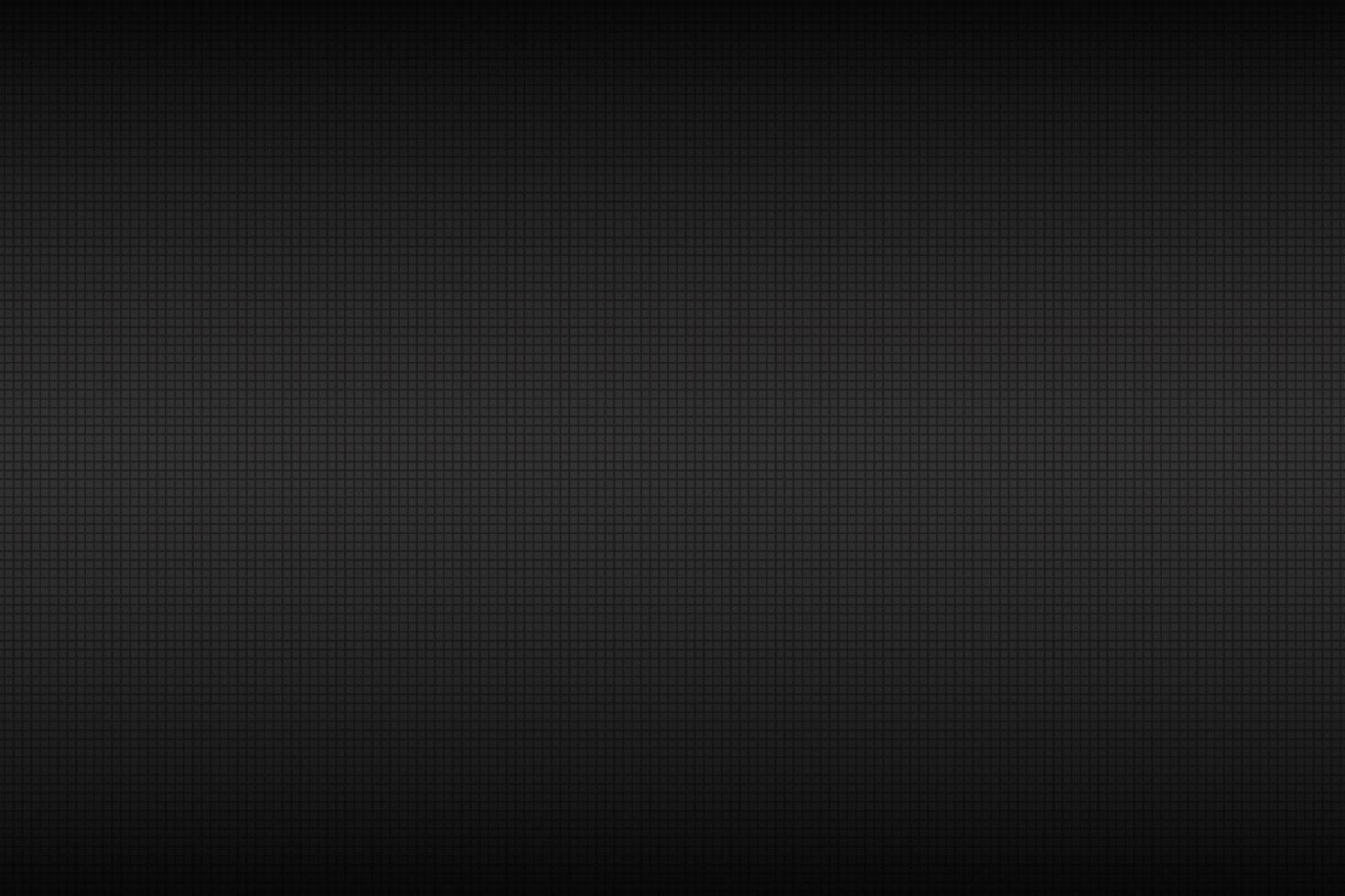 Fondo abstracto negro oscuro y gris con rejilla negra. Ilustración de vector de textura cuadrada metálica
