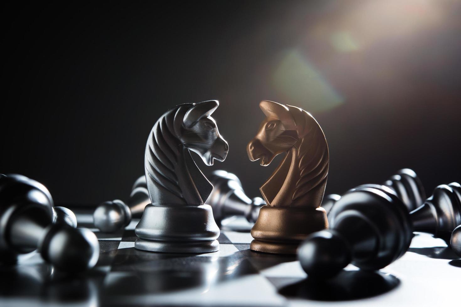 juego de batalla de ajedrez foto