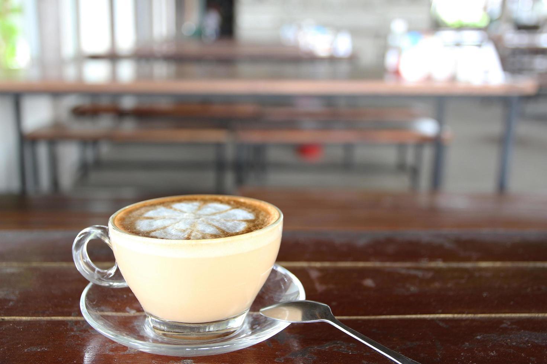 Latte with latte art photo