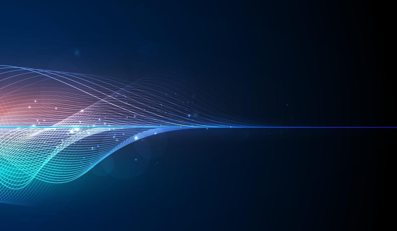 Ecualizador digital azul abstracto, vector de elemento de patrón de onda de sonido