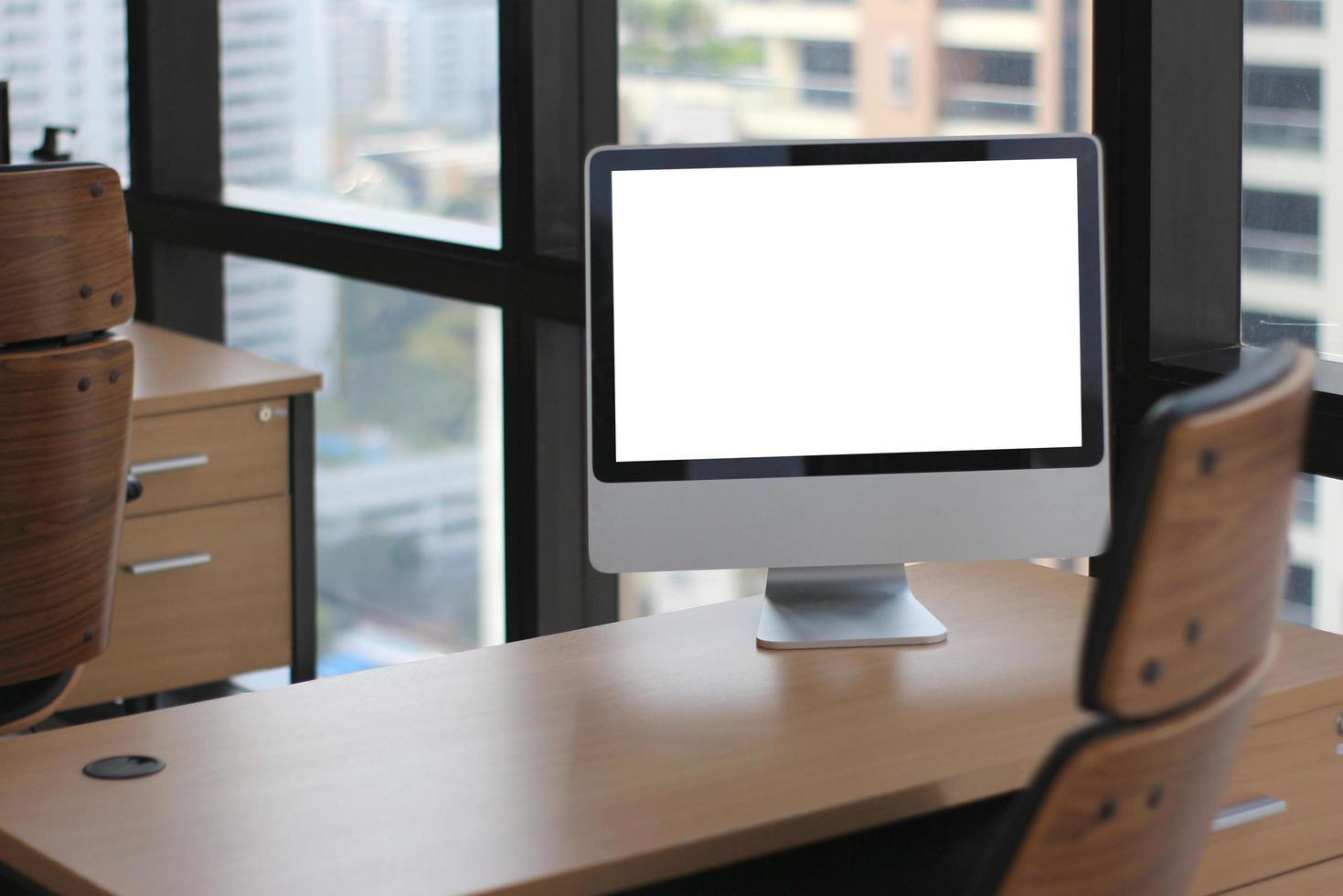 maqueta de computadora de escritorio foto