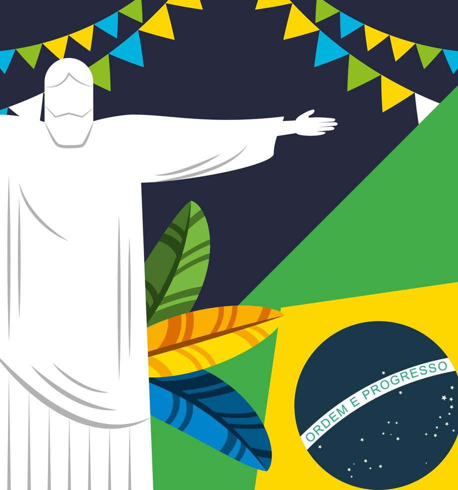 Brazilian Carnival celebration design vector