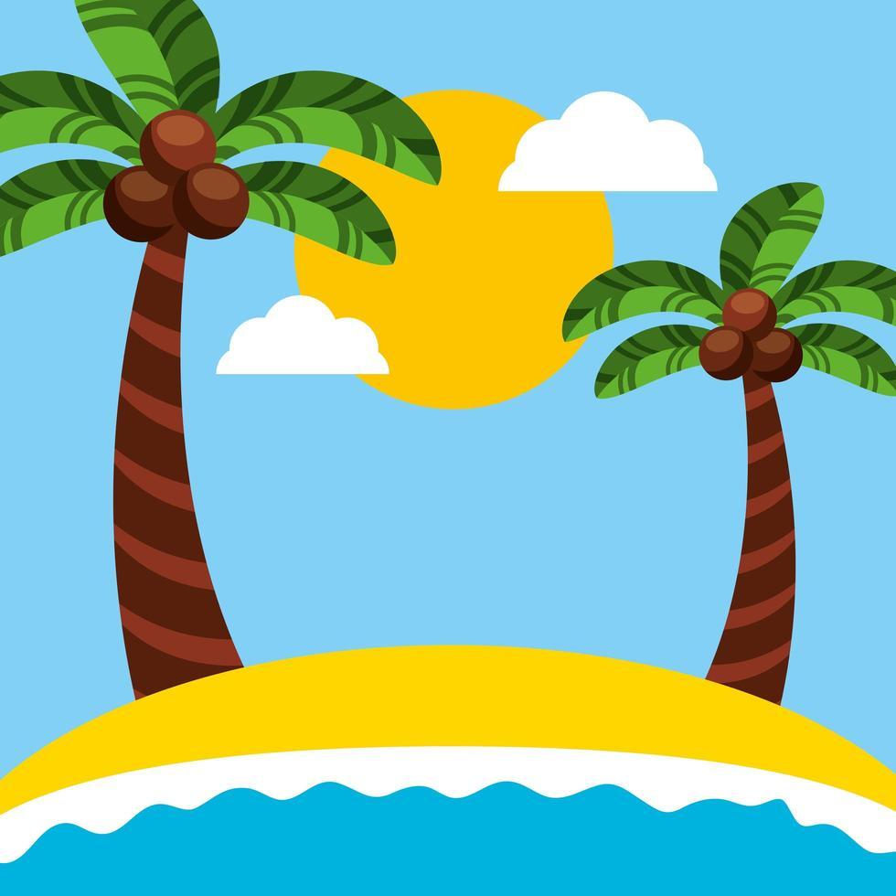Brazilian Carnival celebration with beach seascape vector