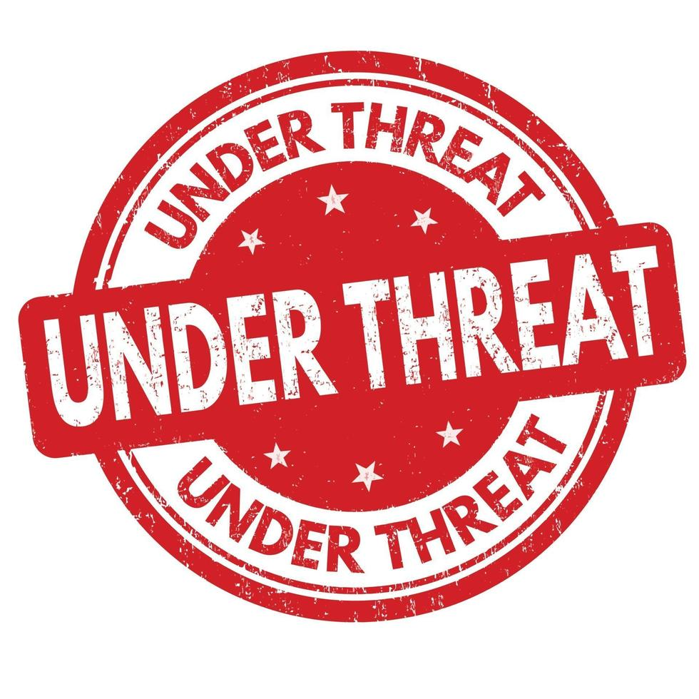 Under threat sign or stamp vector