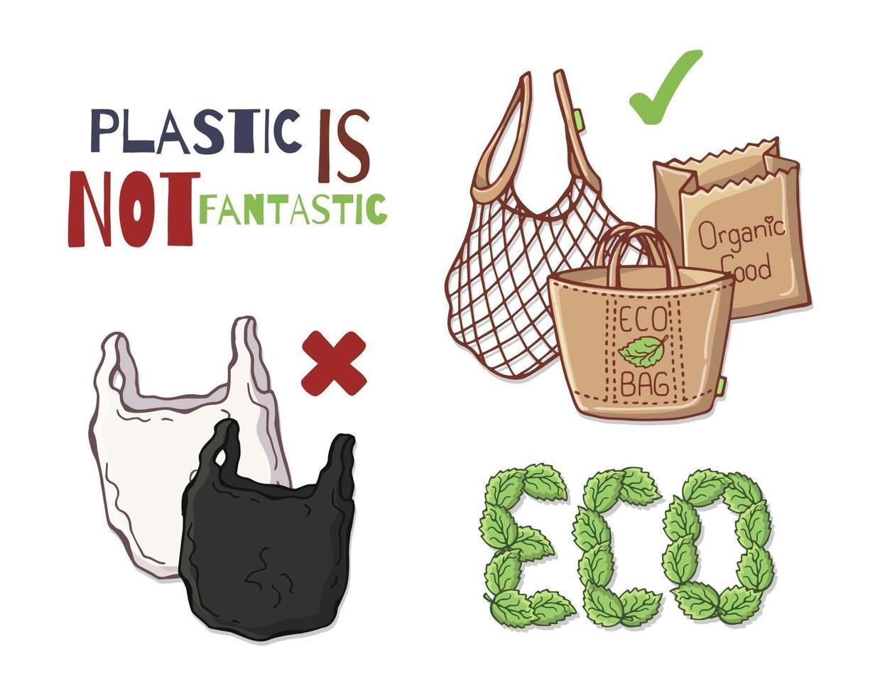 Reusable bags vector