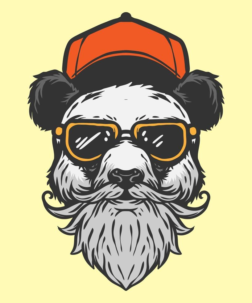 estilo moderno de ilustración panda vector