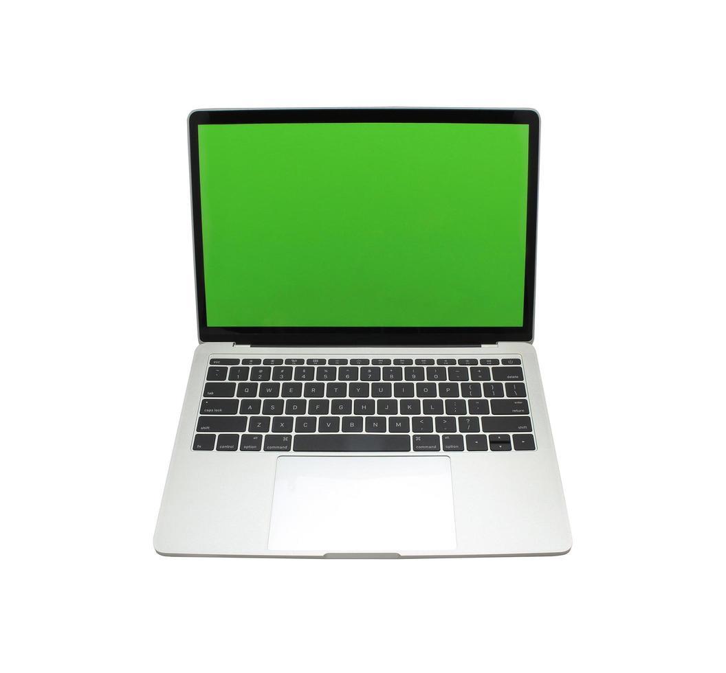maqueta de portátil en blanco foto