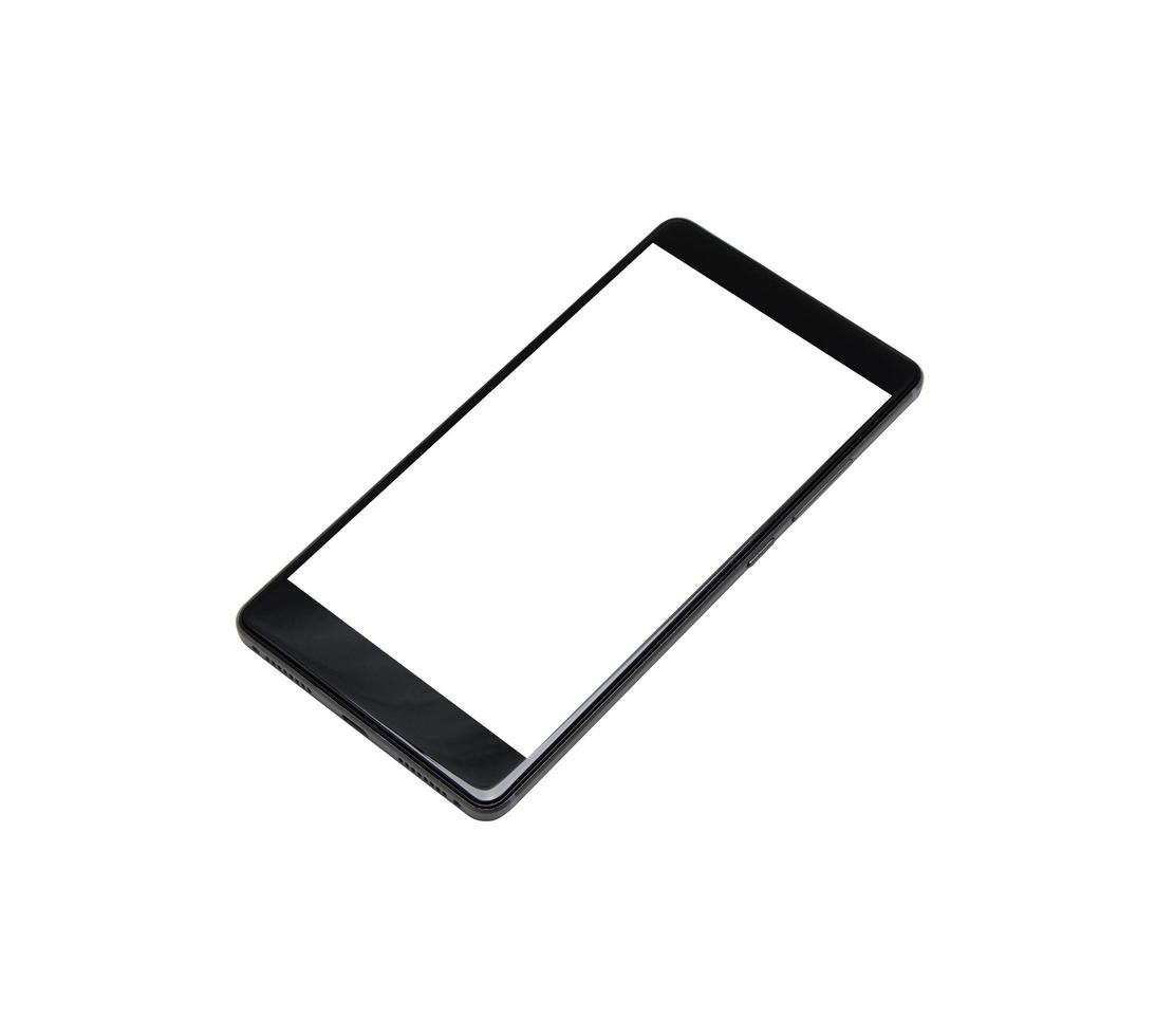Smartphone mock-up on a white background photo