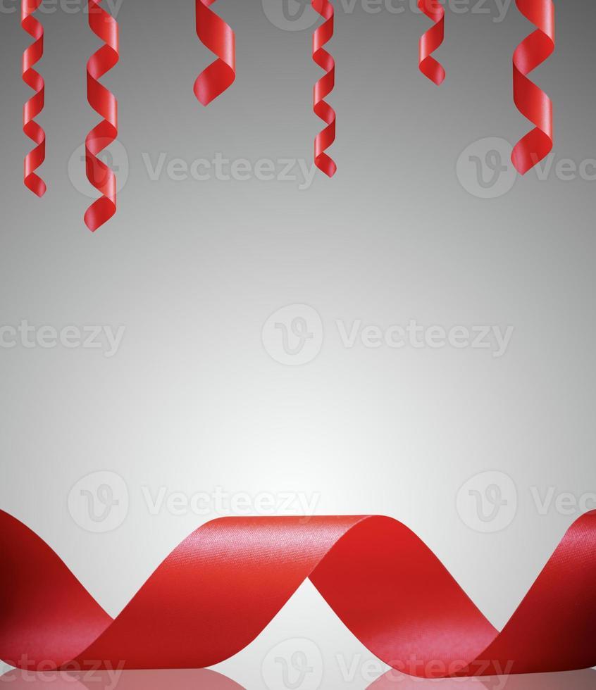 borde de cinta roja y marco foto