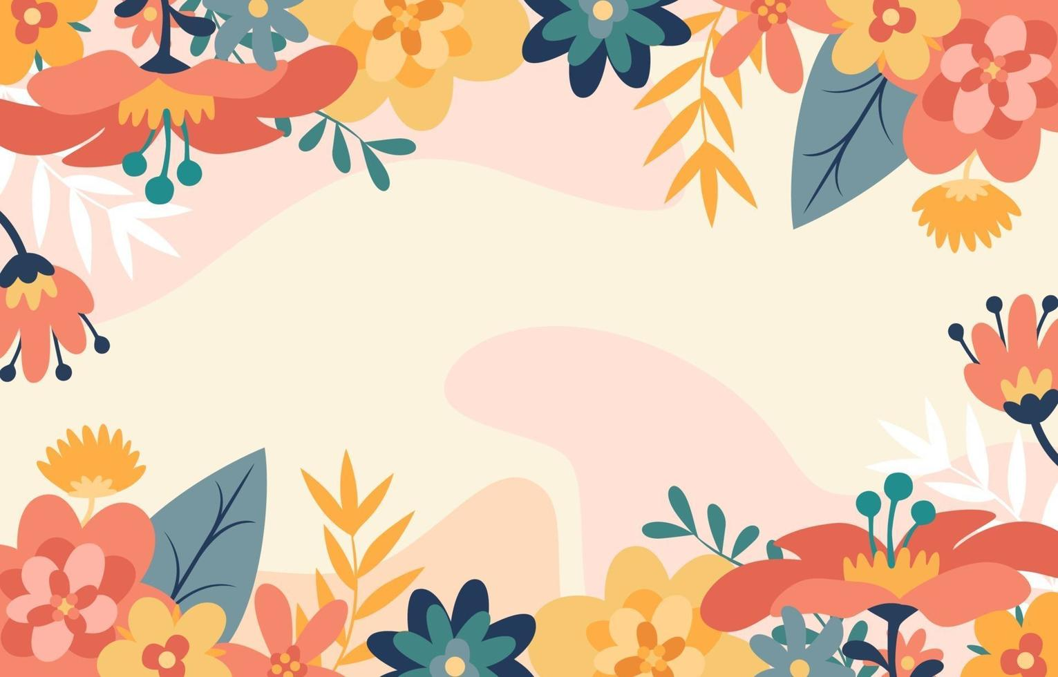 Colorful Spring Floral Decoration vector