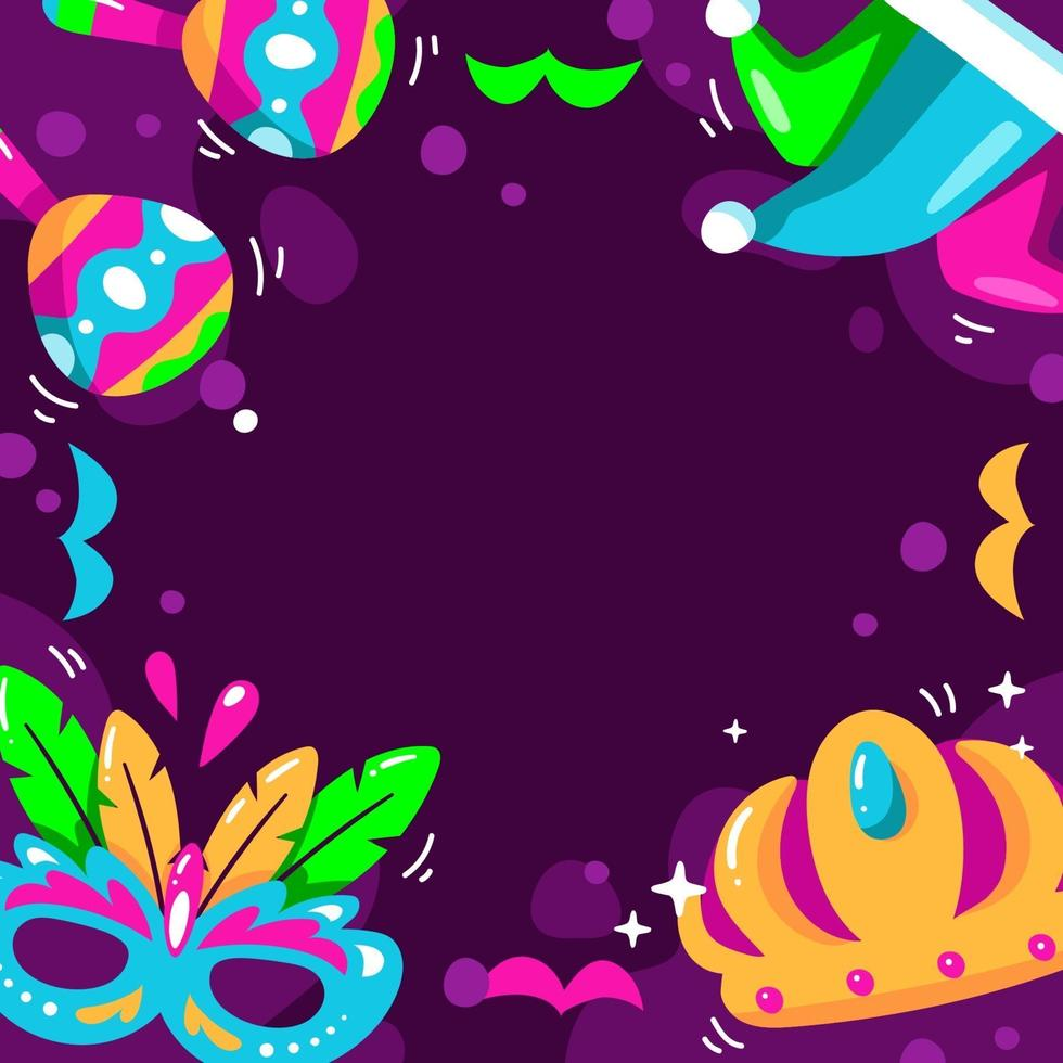 Mardi Gras with Purple Background vector