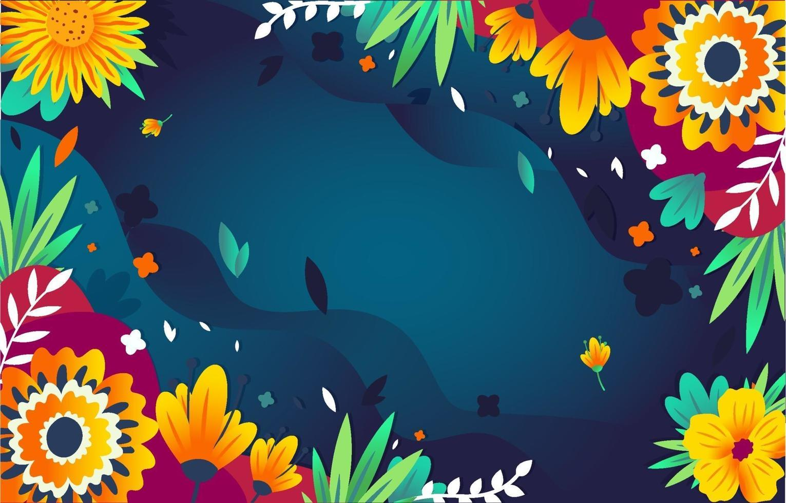Green Exotic Flowers vector