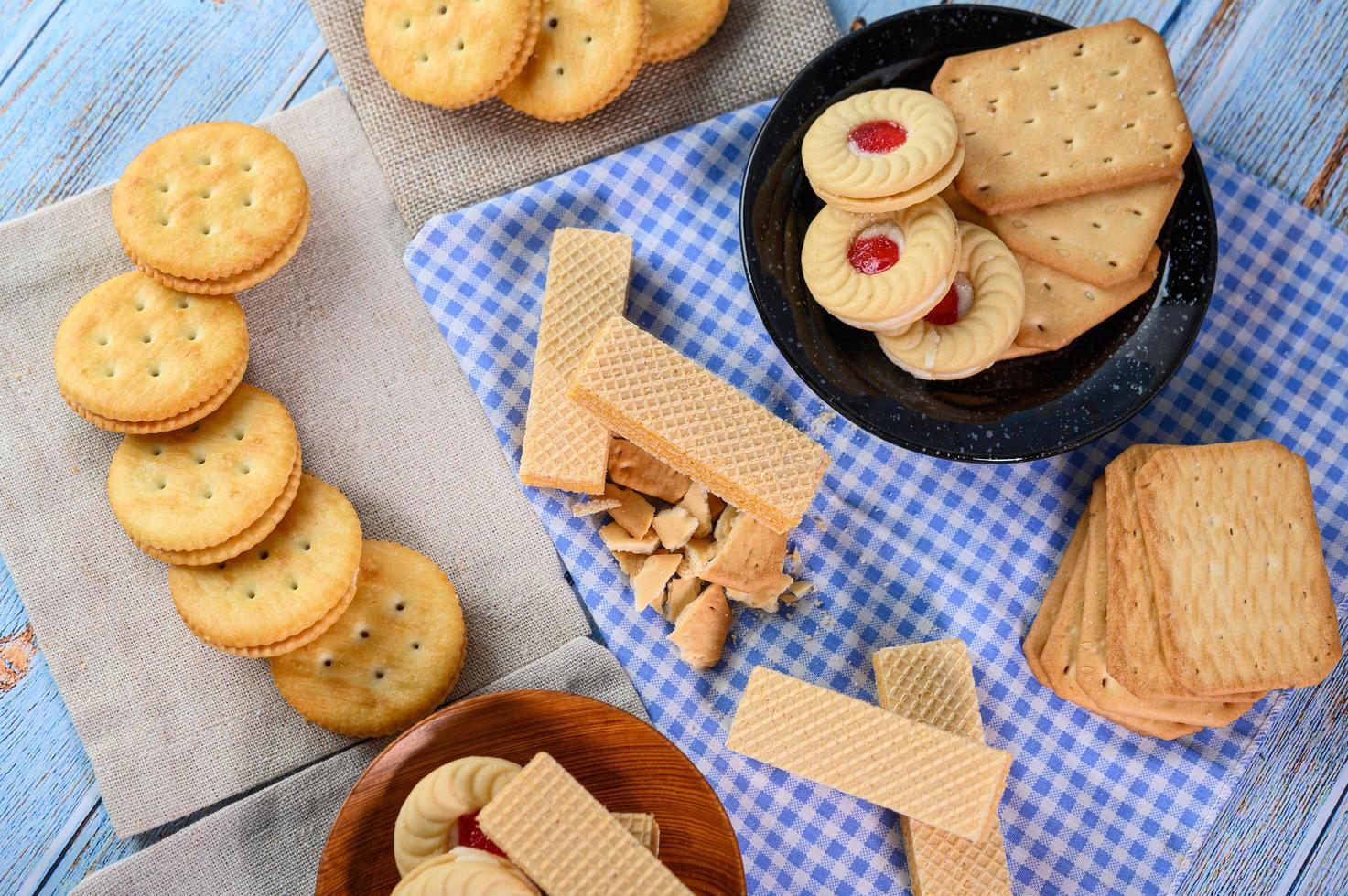 galletas y galletas saladas foto