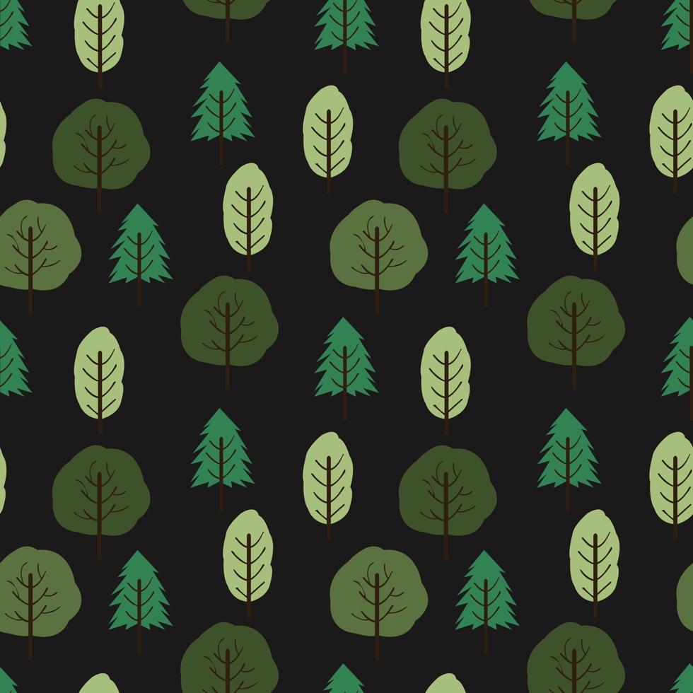 cute tree seamless pattern background vector