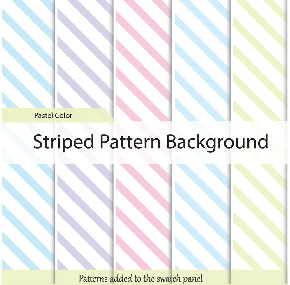 vector de patrón de rayas diagonales. color pastel establece una imagen diagonal simple geométrica.