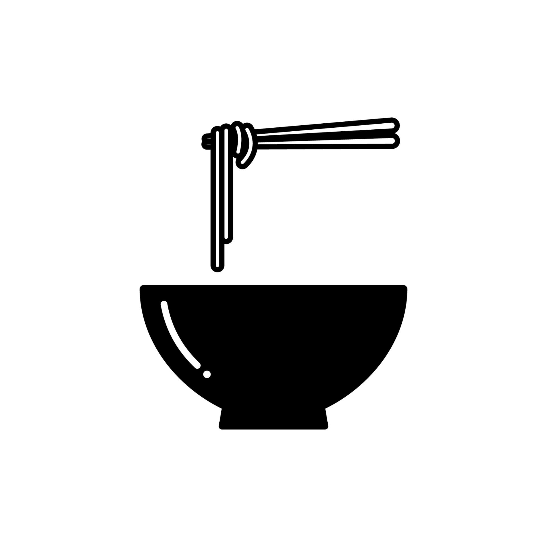 Noodle Soup Bowl With Chopsticks Icon Bowl Of Ramen Noodle Icon Download Free Vectors Clipart Graphics Vector Art