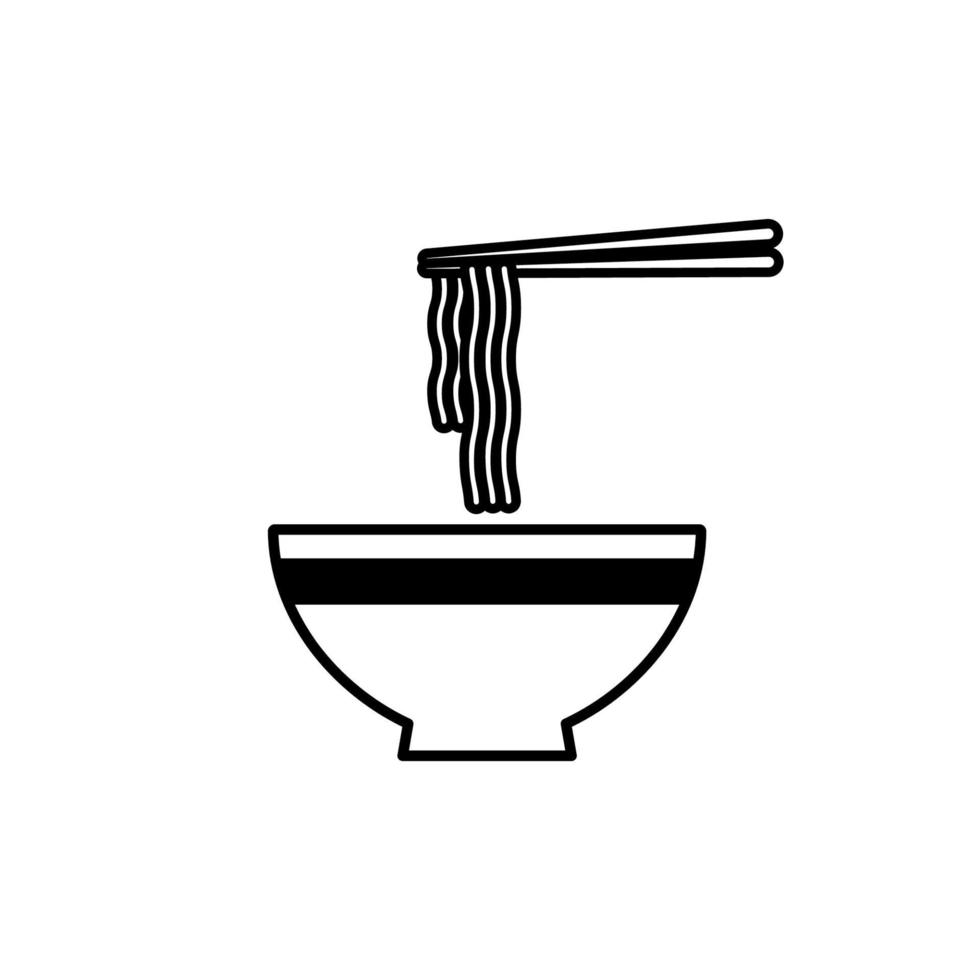 Ramen Noodle Soup Bowl With Chopsticks Icon Bowl Of Ramen Noodle Icon Download Free Vectors Clipart Graphics Vector Art