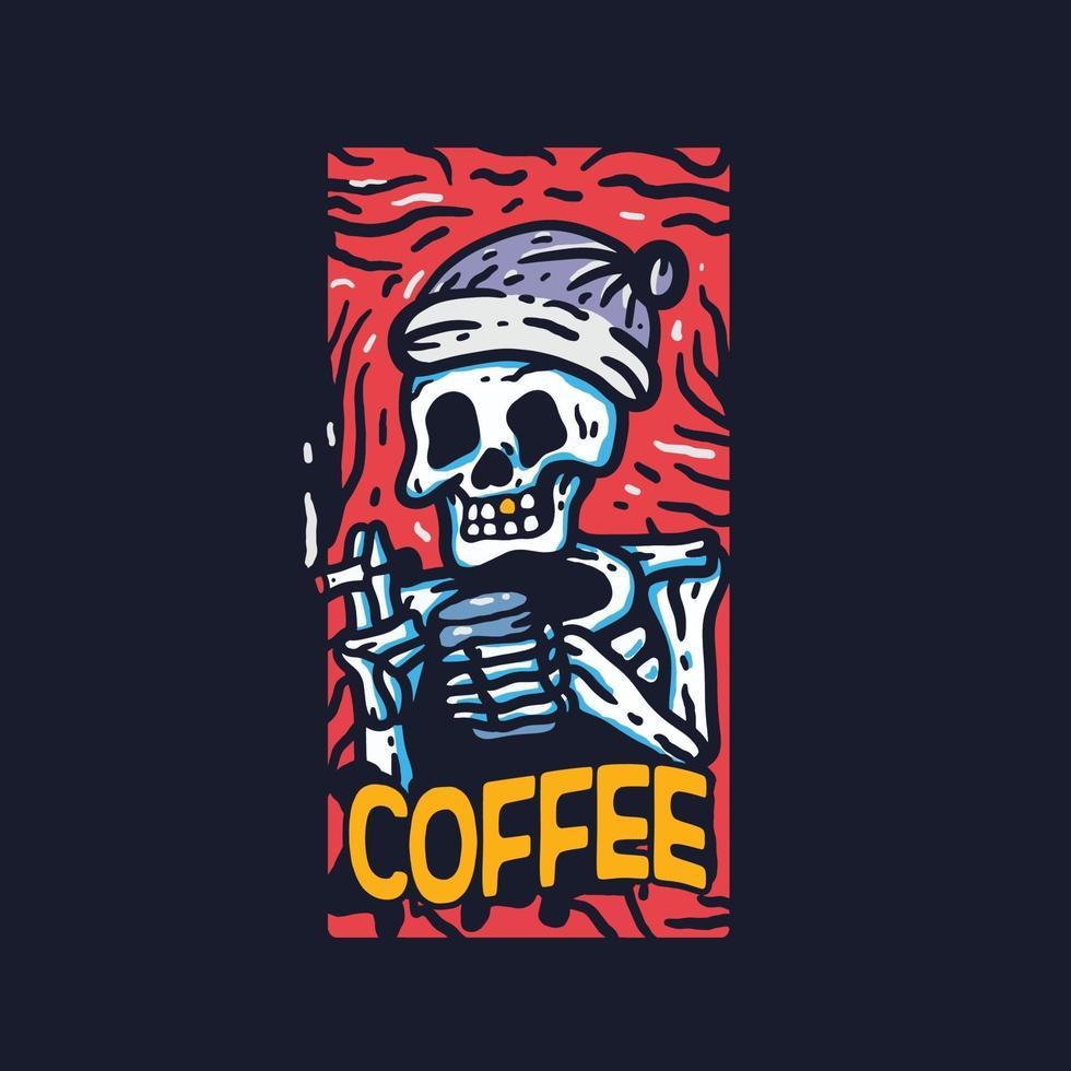 Skull paradise skeleton. skateboard vector