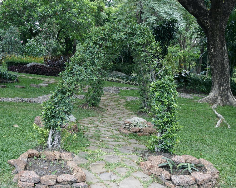 arco en un jardín foto
