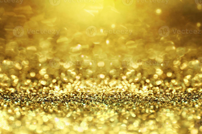 brillo dorado y fondo abstracto bokeh foto
