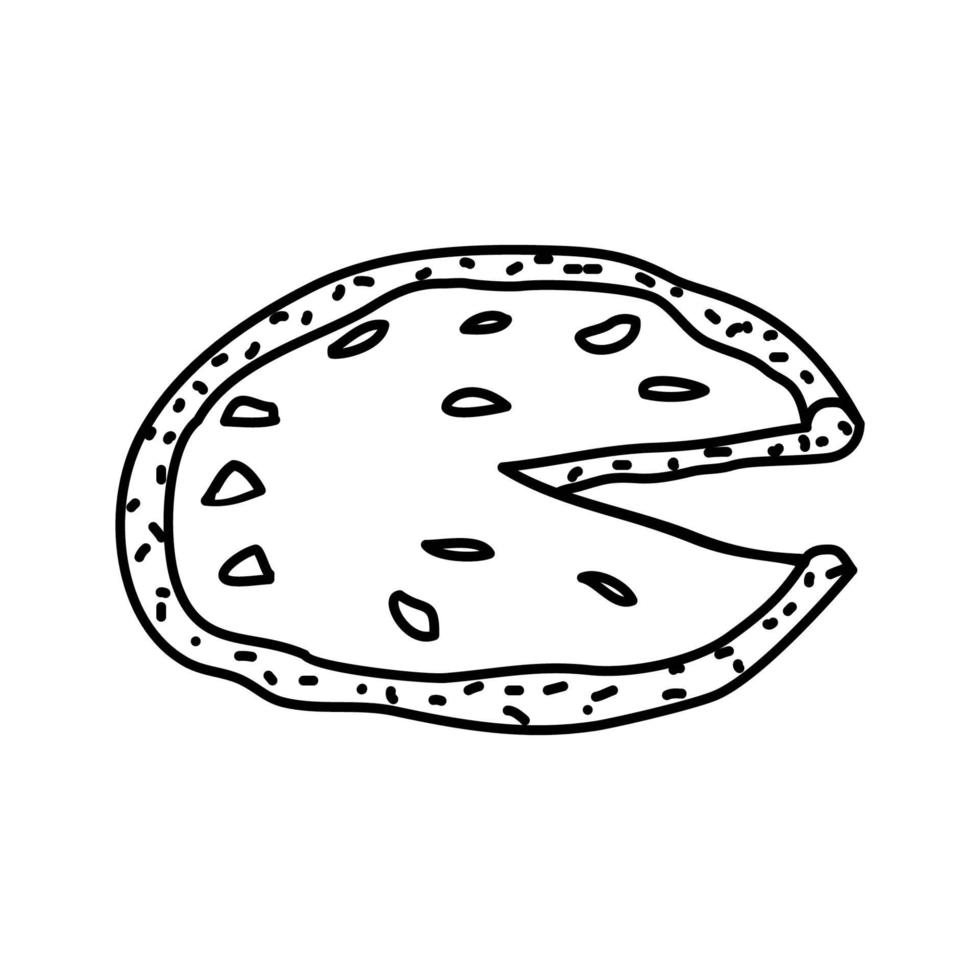 Pizza Napoletana Icon. Doodle Hand Drawn or Outline Icon Style vector
