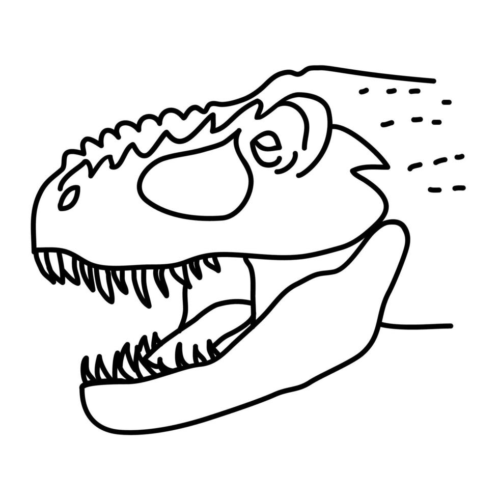Tyrannosaurus Rex Icon. Doodle Hand Drawn or Black Outline Icon Style vector