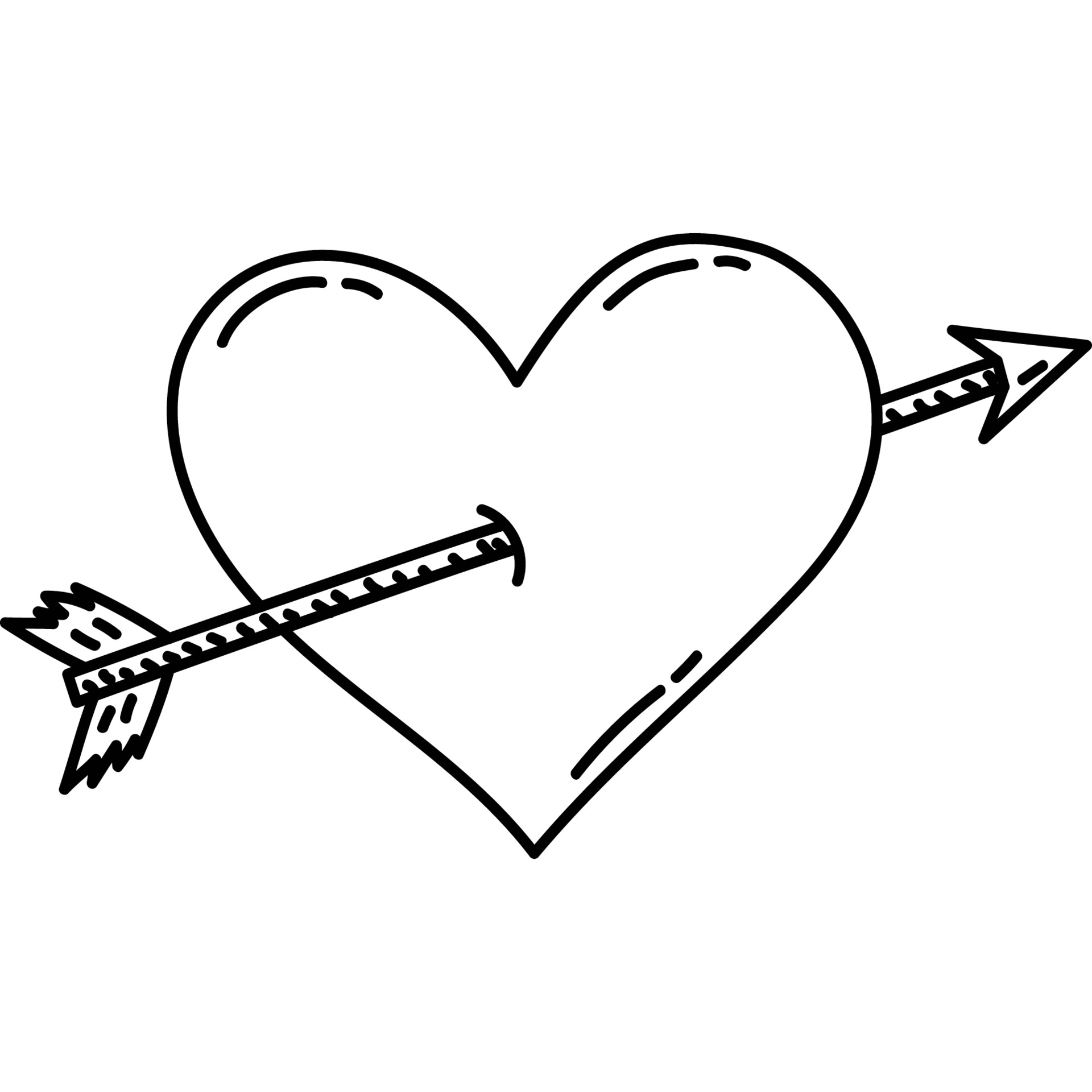 Heart Arrow Icon. Doddle Hand Drawn or Black Outline icon Style. Vector  Icon 1976511 Vector Art at Vecteezy