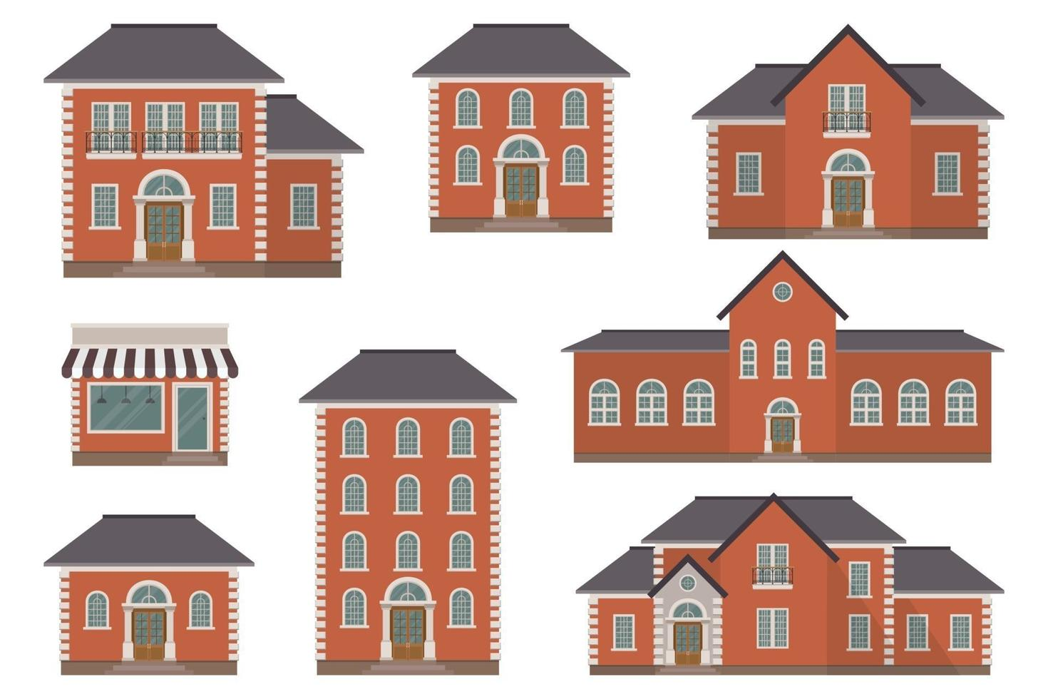 House building vector illustration isolated on white background
