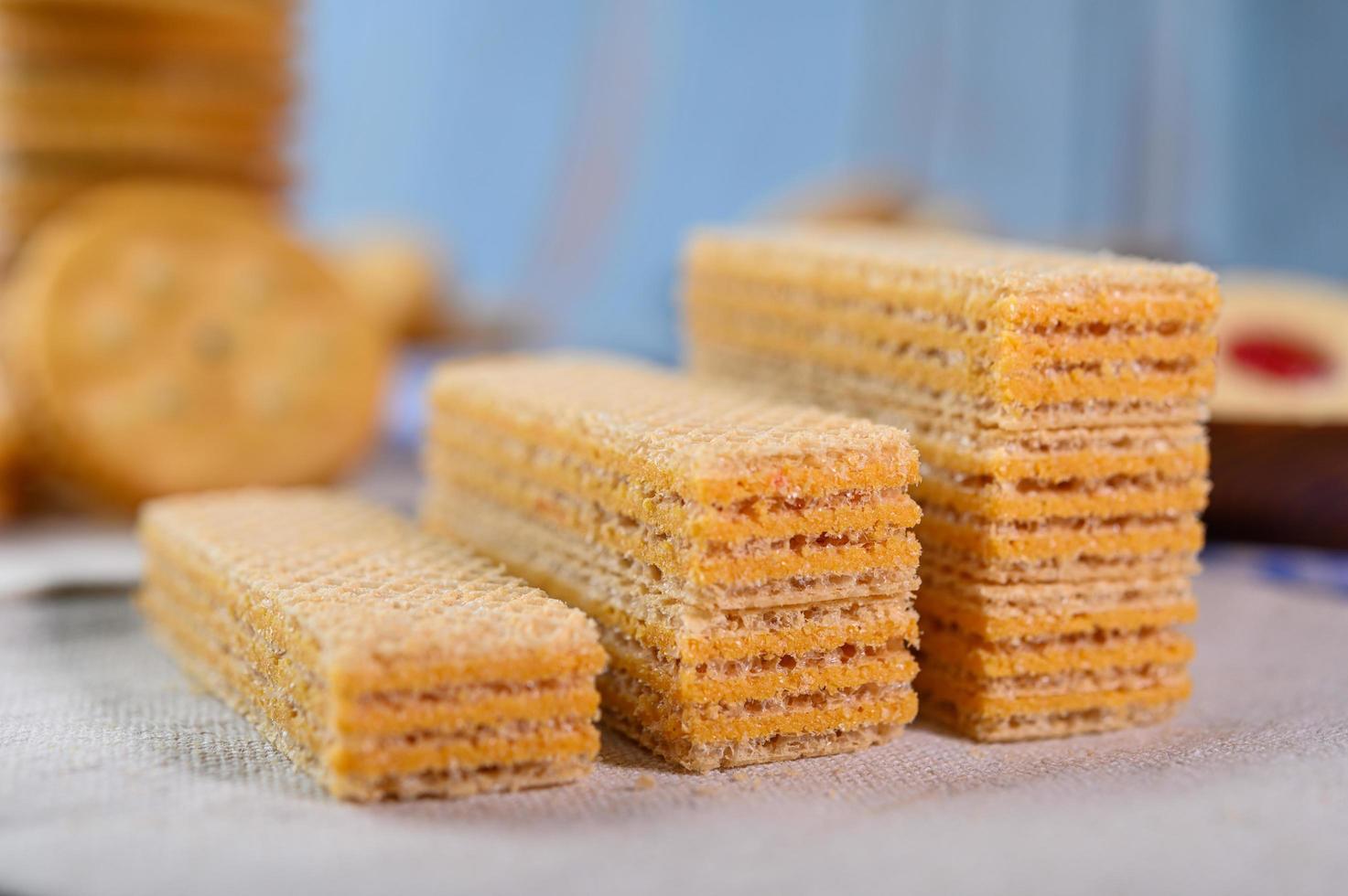 galletas dispuestas en un paño foto