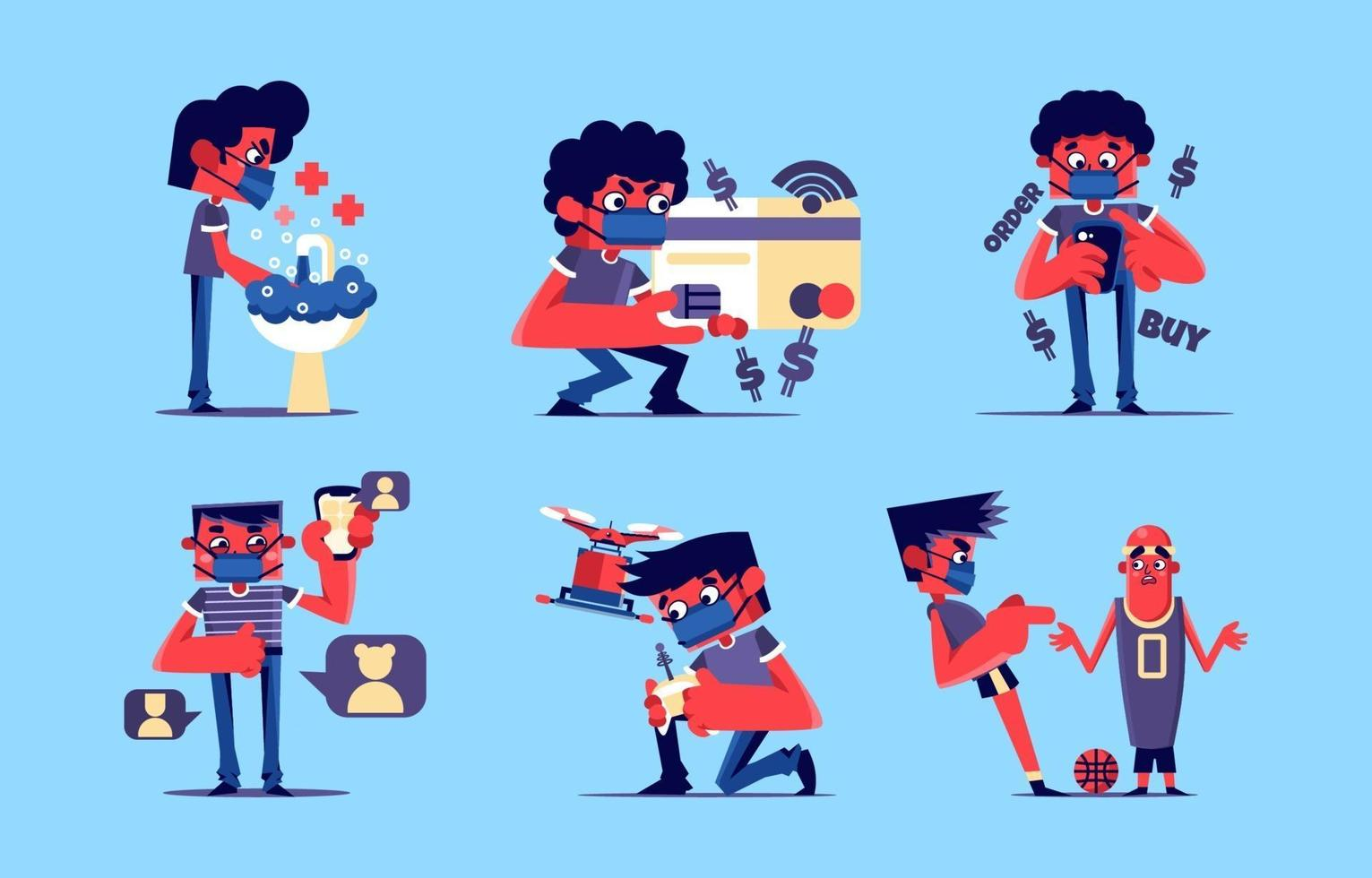 New Normal Character Package vector