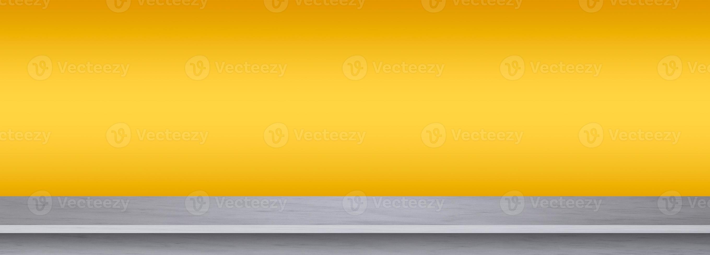 textura de mármol blanco sobre fondo amarillo foto
