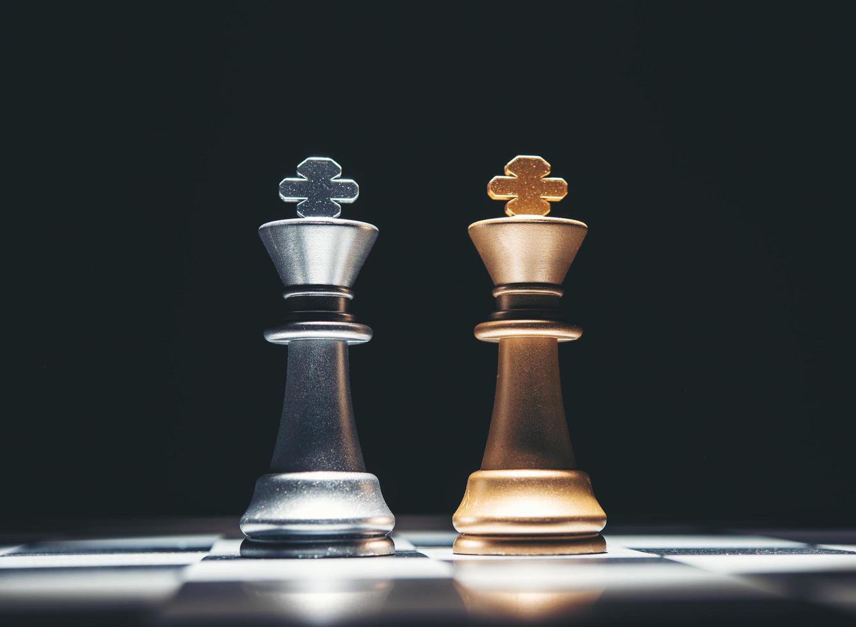 juego de figuras de ajedrez foto