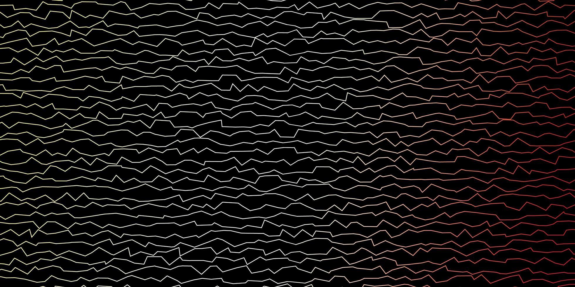 patrón de vector multicolor oscuro con líneas torcidas.