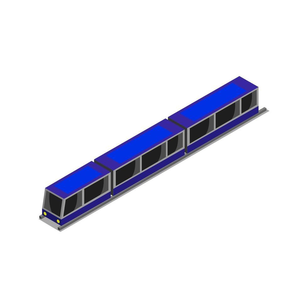 tren isométrico sobre fondo blanco vector
