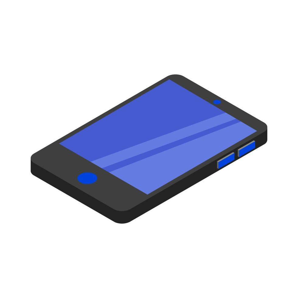 Isometric Smartphone Illustrated On White Background vector