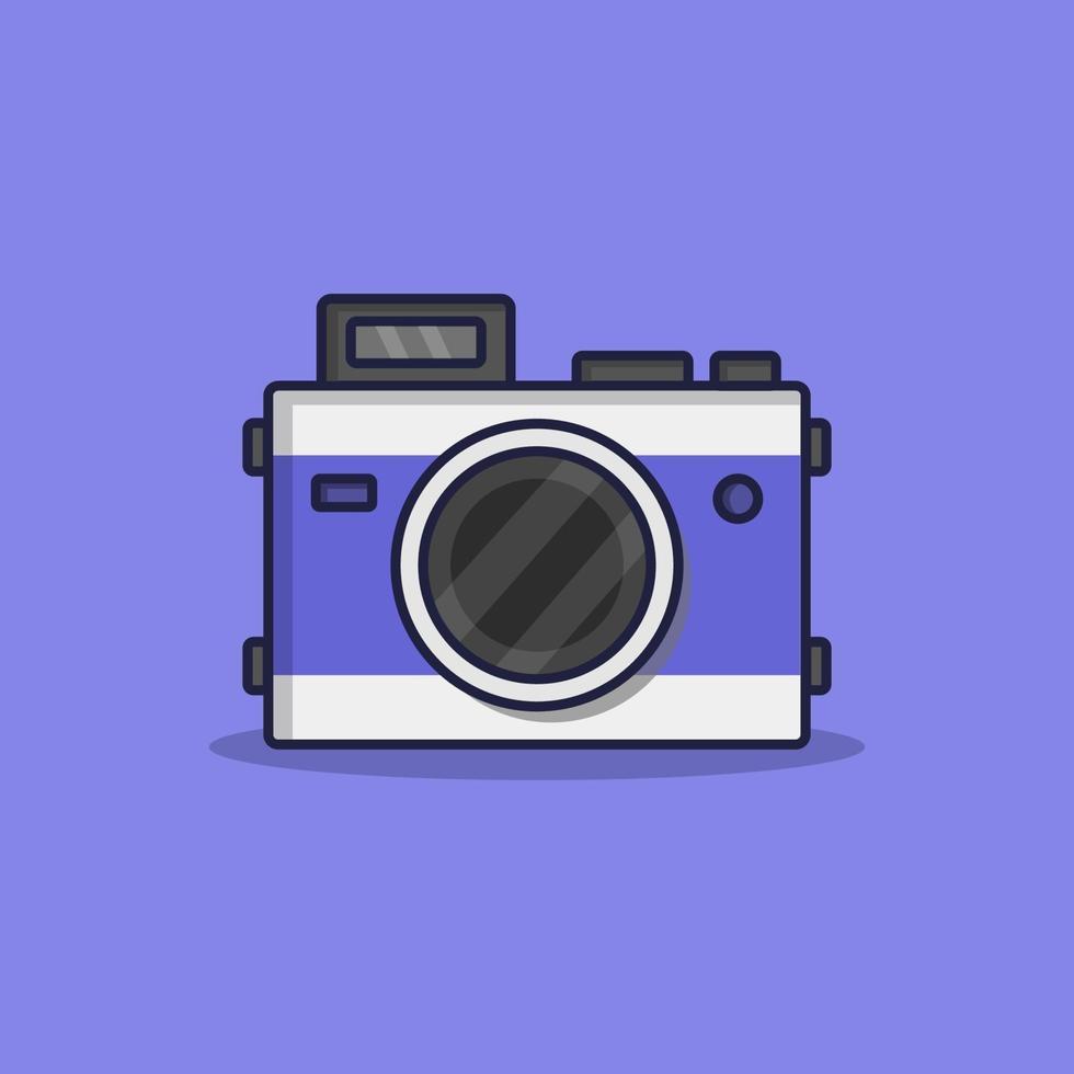 cámara ilustrada en el fondo vector
