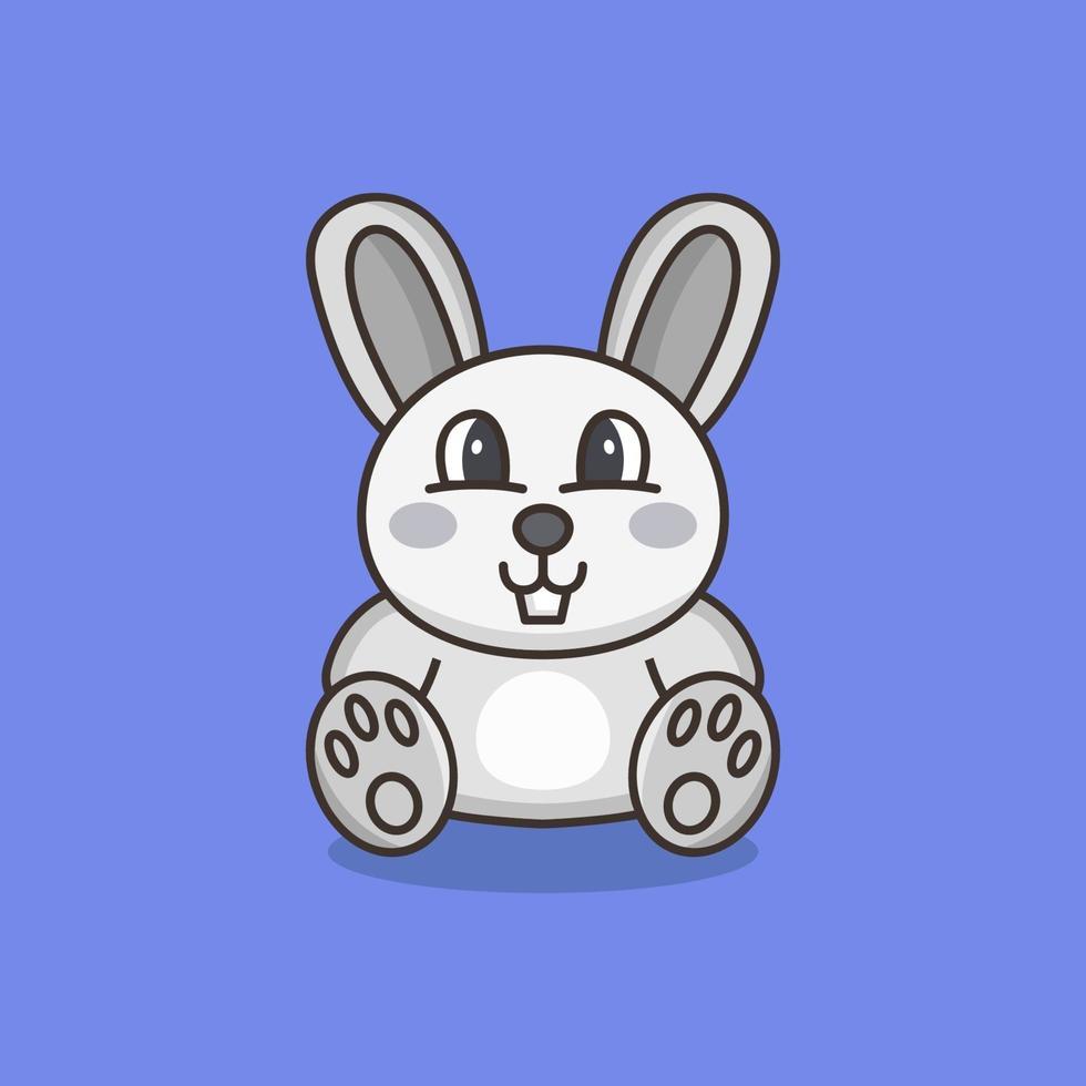 conejo ilustrado en el fondo vector