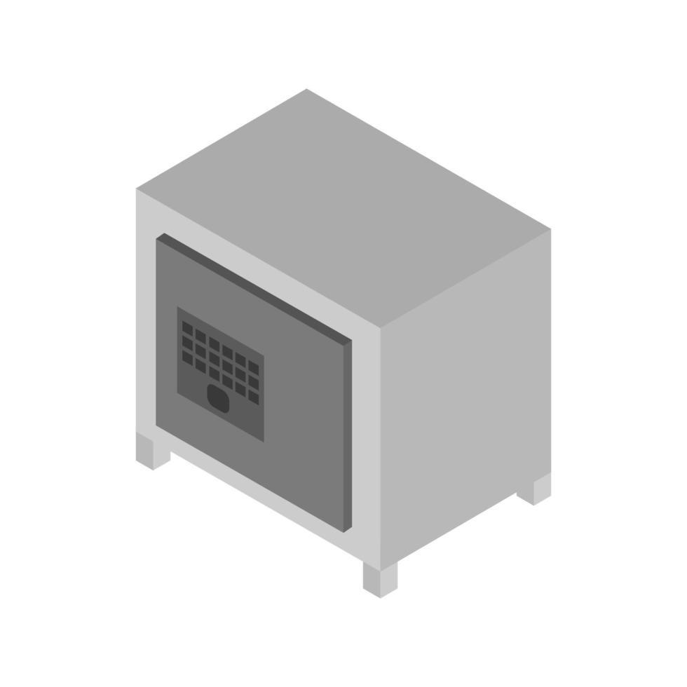 isométrico seguro ilustrado sobre fondo blanco vector