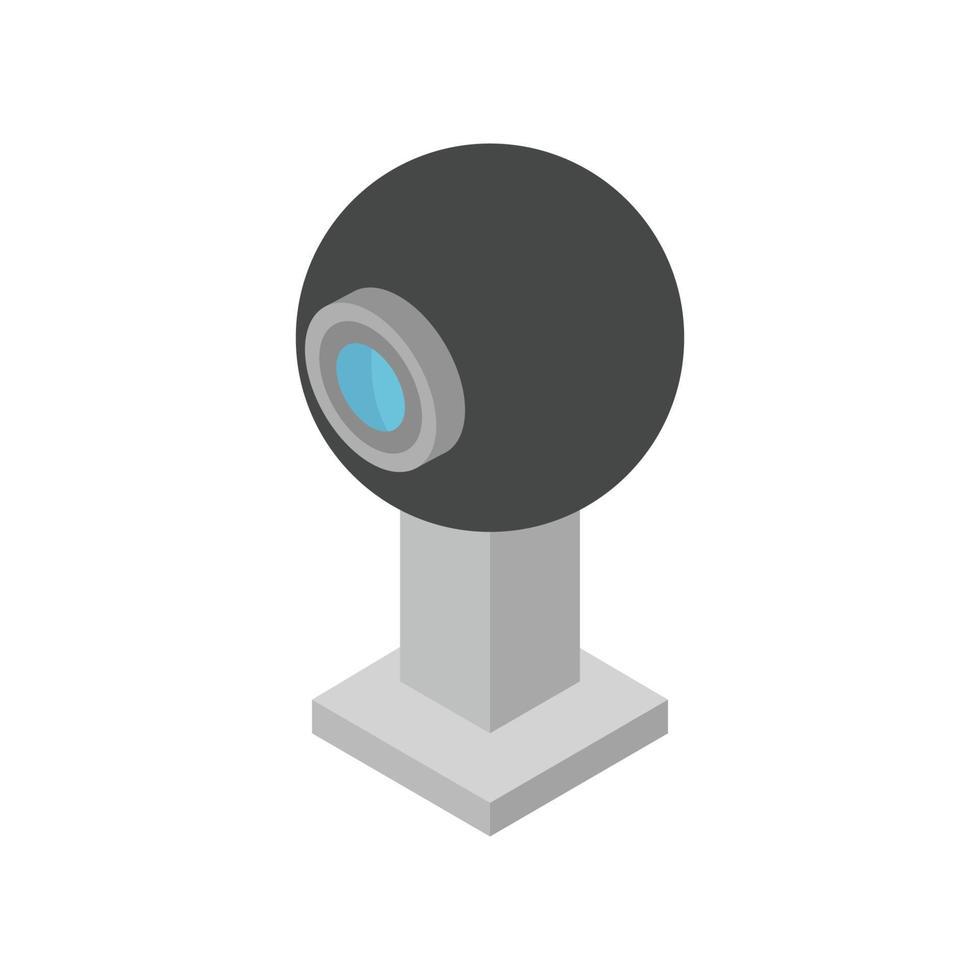 webcam isométrica ilustrada sobre fondo blanco vector