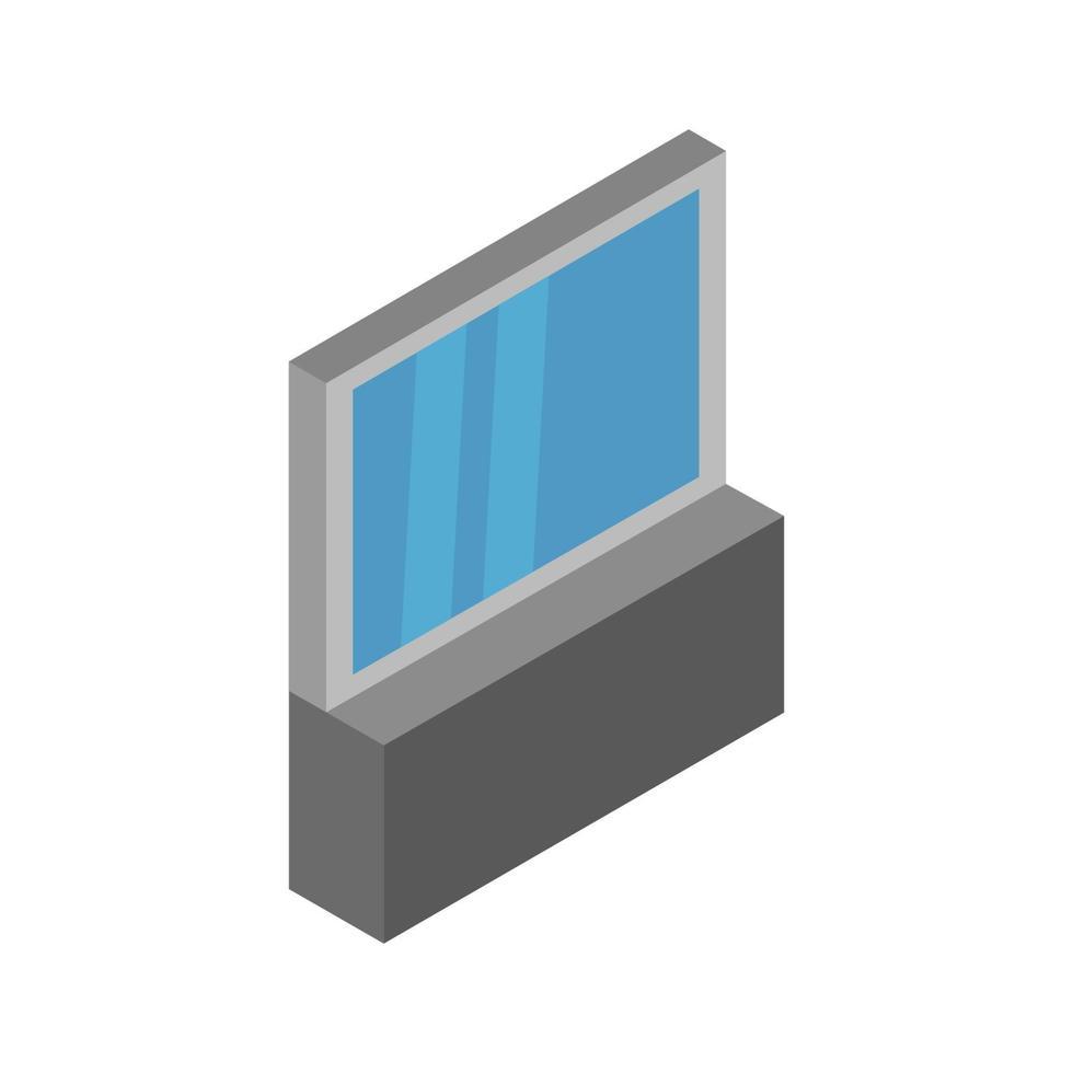 espejo isométrico ilustrado sobre fondo blanco vector