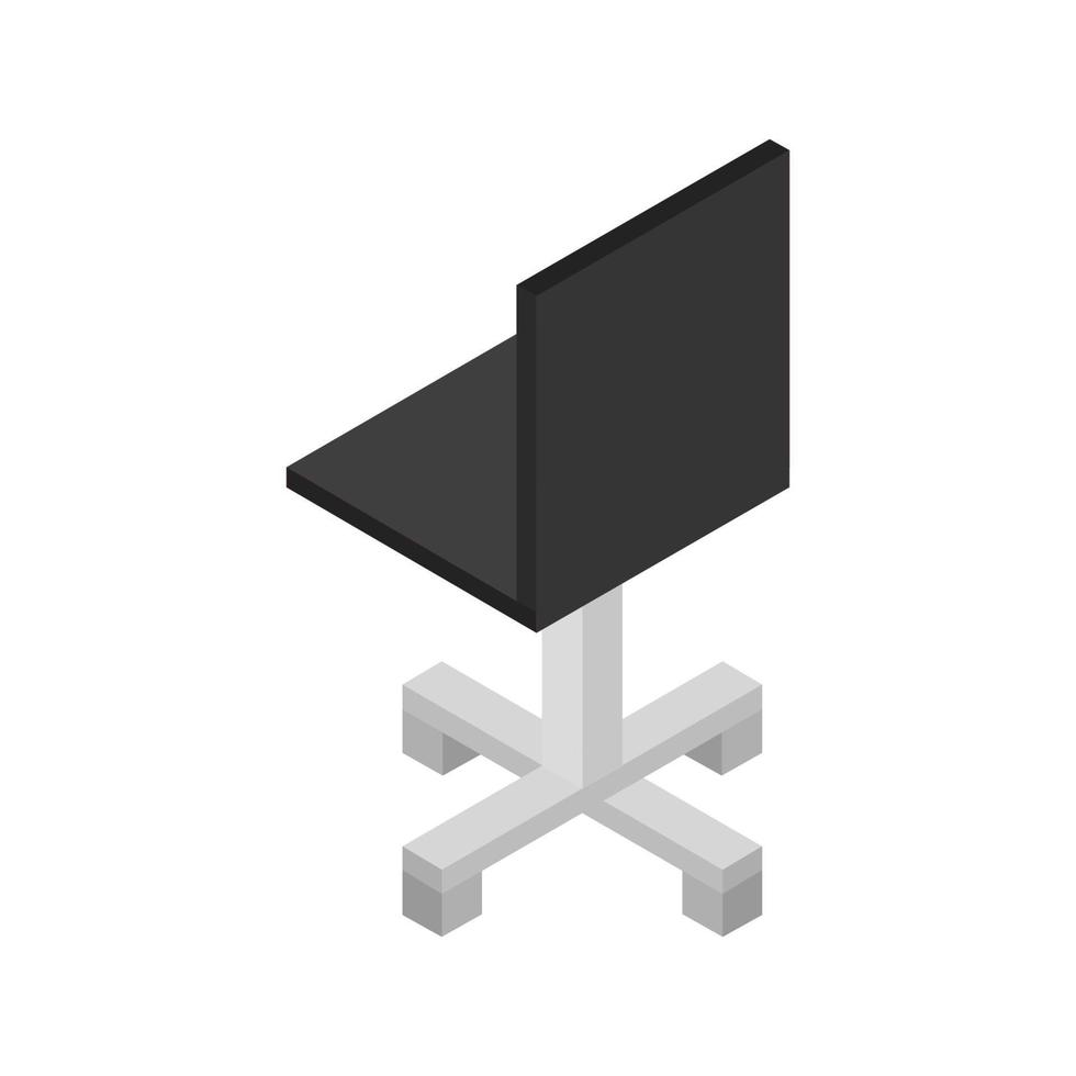 silla isométrica ilustrada sobre fondo blanco vector
