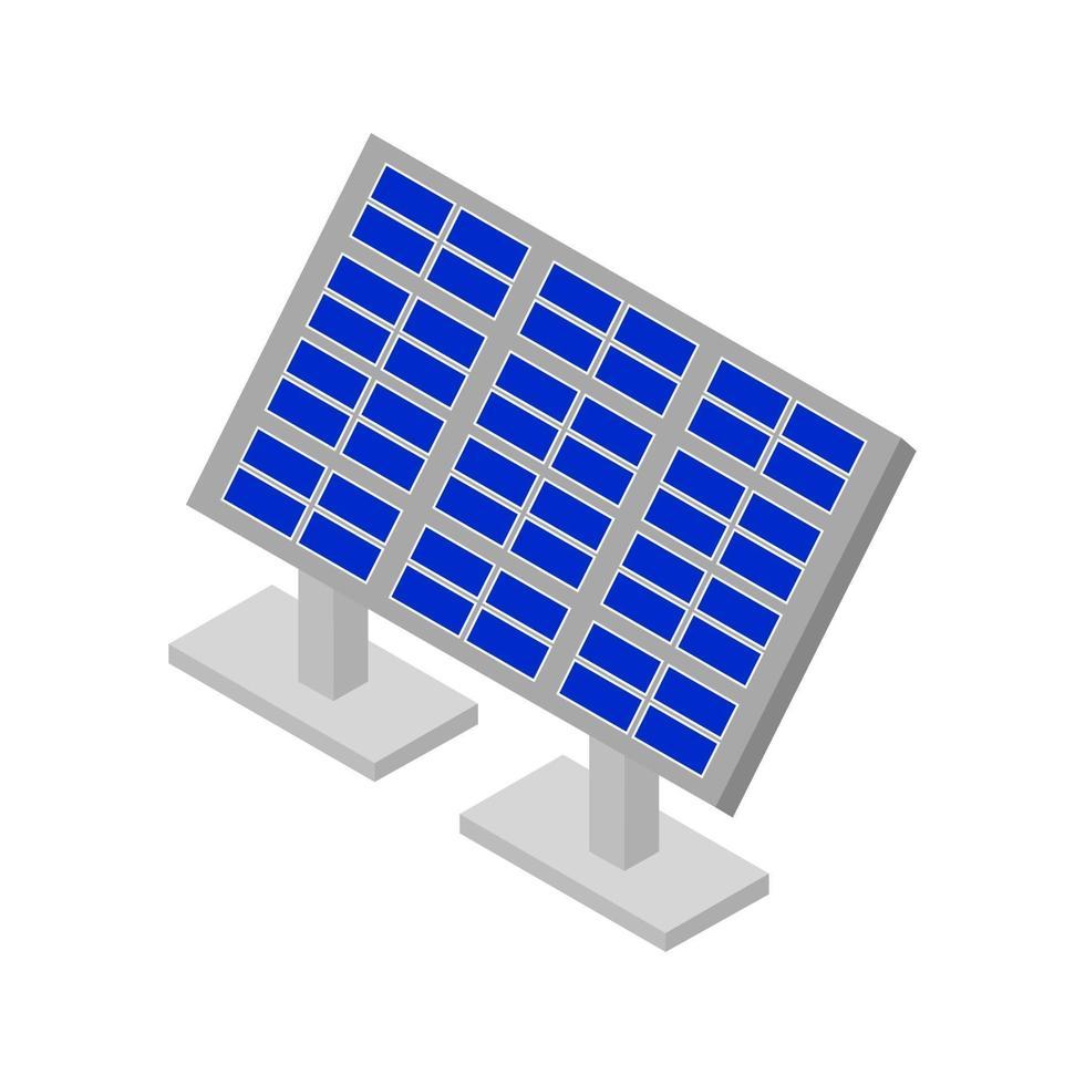 panel solar isométrico sobre fondo blanco vector