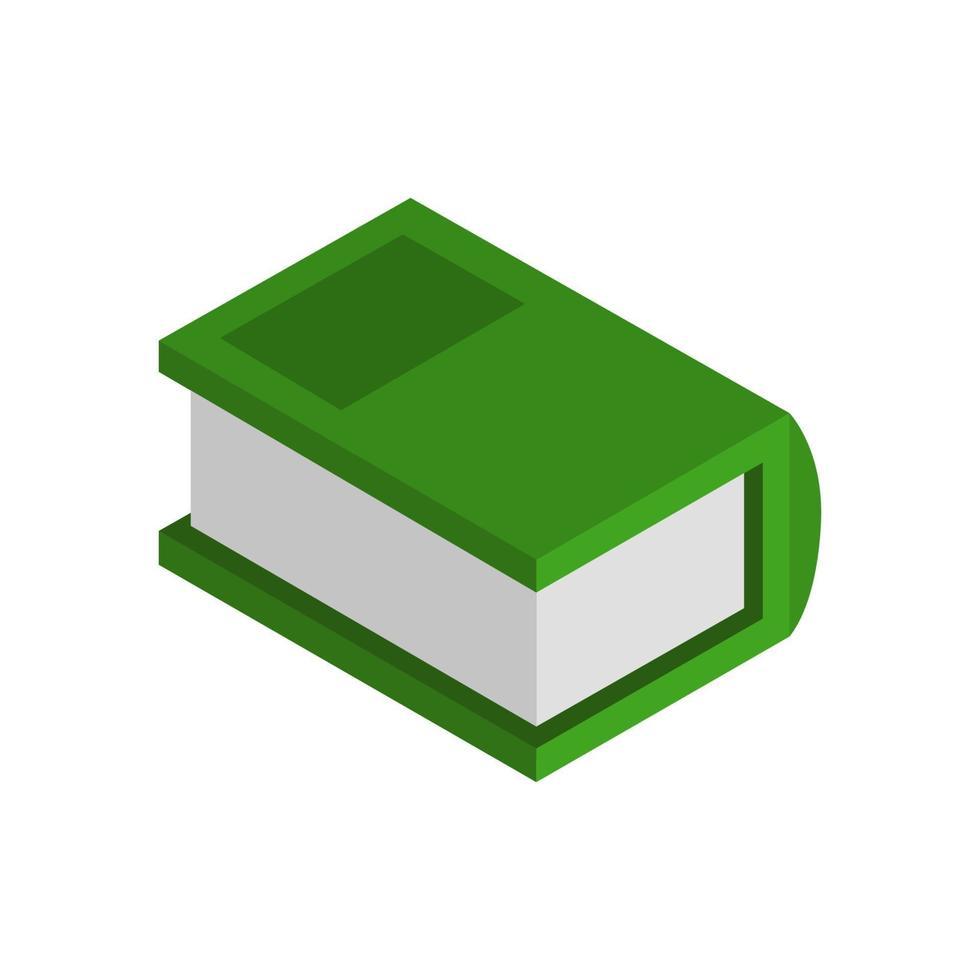 libro isométrico ilustrado sobre fondo blanco vector